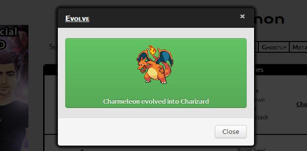 Pronto! Seu Charmeleon virou Charizard! (Foto: Reprodução/Thiago Barros) (Foto: Pronto! Seu Charmeleon virou Charizard! (Foto: Reprodução/Thiago Barros))