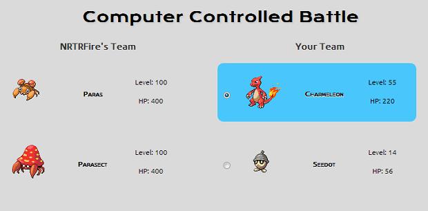 Escolha o Pokémon que você quer evoluir nesta tela (Foto: Reprodução/Thiago Barros)
