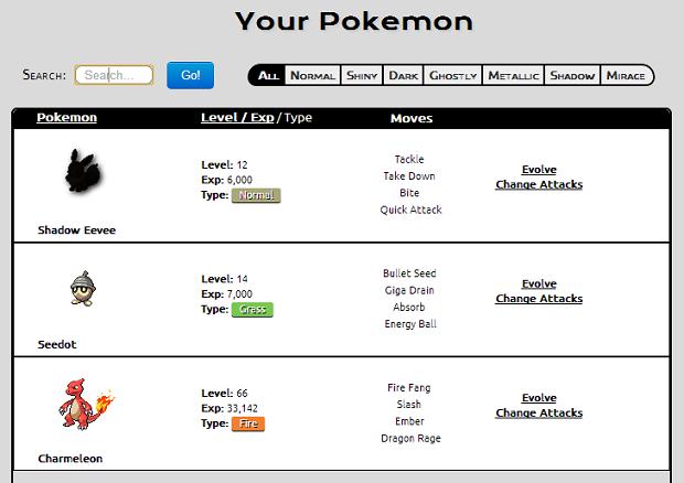 Pokemons Emerald Lista Vá à Sua Lista de Pokémon Para