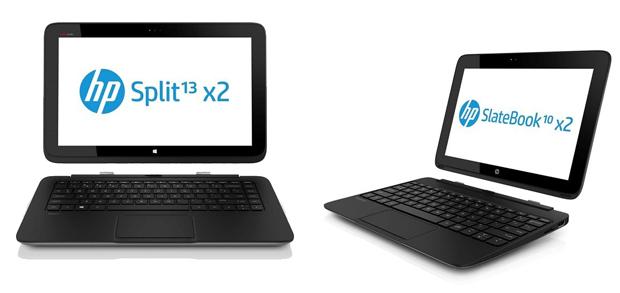 HP lança dois novos híbridos com Windows 8 (esquerda) e Android (direita). (Foto: Reprodução / Neowin)