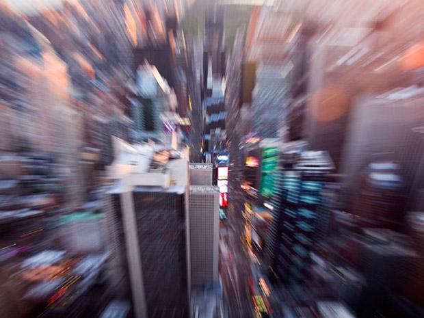 Imagem de prédios da Times Square em Nova Iorque (Foto: Michael Yamashita)