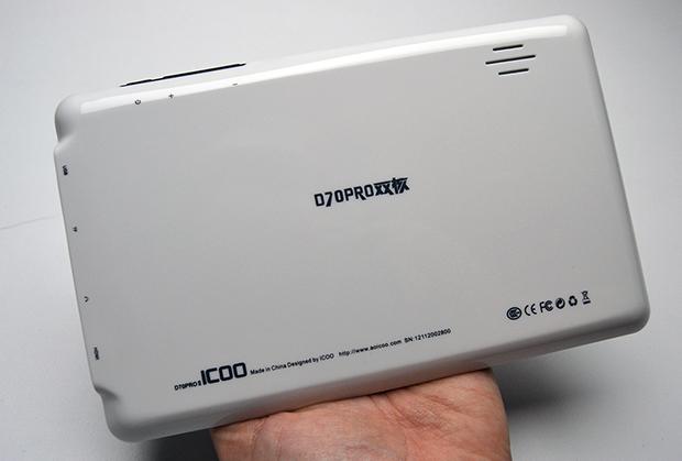 Traseira de plástico brilhante branca do ICOO D70PROII: opção não muito bonita (Foto: Stella Dauer)