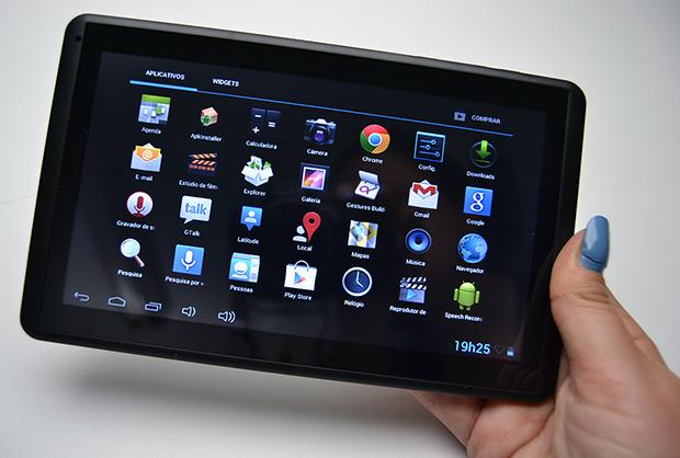 Muitos aplicativos pré-instalados no tablet ICOO D70PROII (Foto: Stella Dauer)
