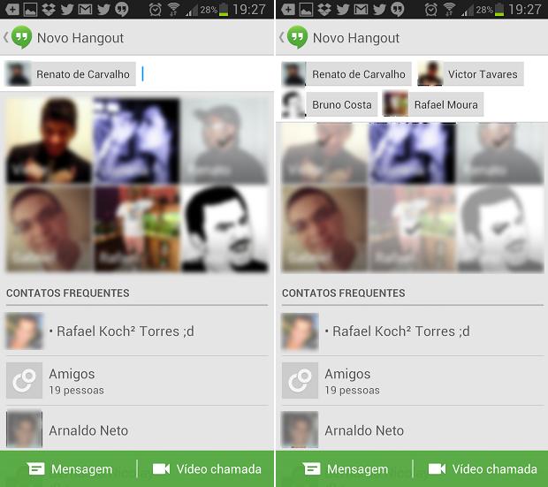 Estas são as telas de convidar usuários para bater papo (Foto: Reprodução/Thiago Barros)