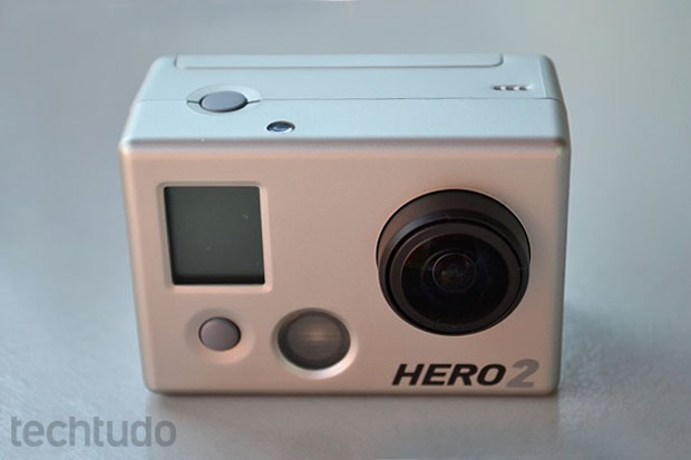 GoPro HD Hero 2 vista de frente (Foto: Thiago Barros/TechTudo)