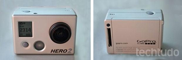 GoPro HD Hero 2 tem dimensões bem pequenas (Foto: Thiago Barros/TechTudo)