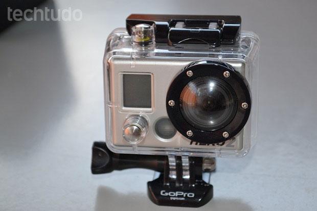 GoPro HD Hero 2 fotografa com 11 megapixels (Foto: Thiago Barros/TechTudo)
