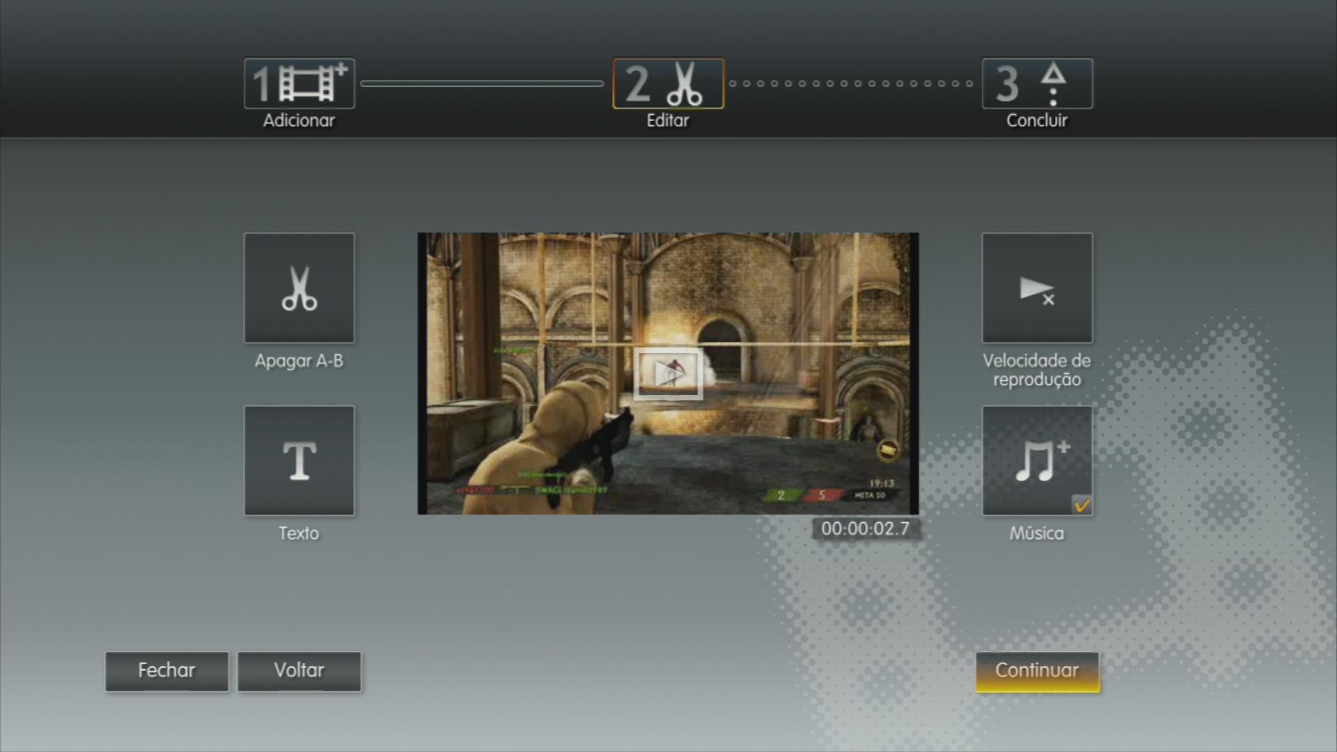 O menu traz atalhos para todas as ferramentas disponibilizadas. (Foto: Reprodução)
