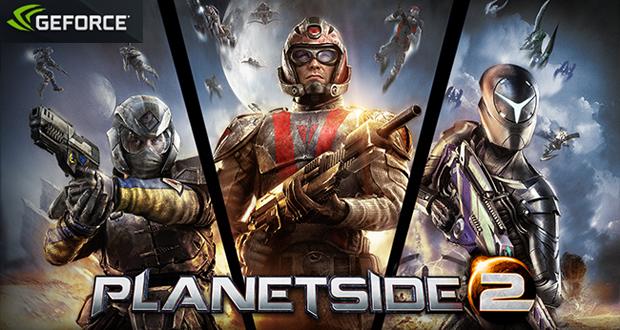 Em Planetside 2 todos os jogadores são lançados em uma grande área (Foto: Reprodução / GeForce)