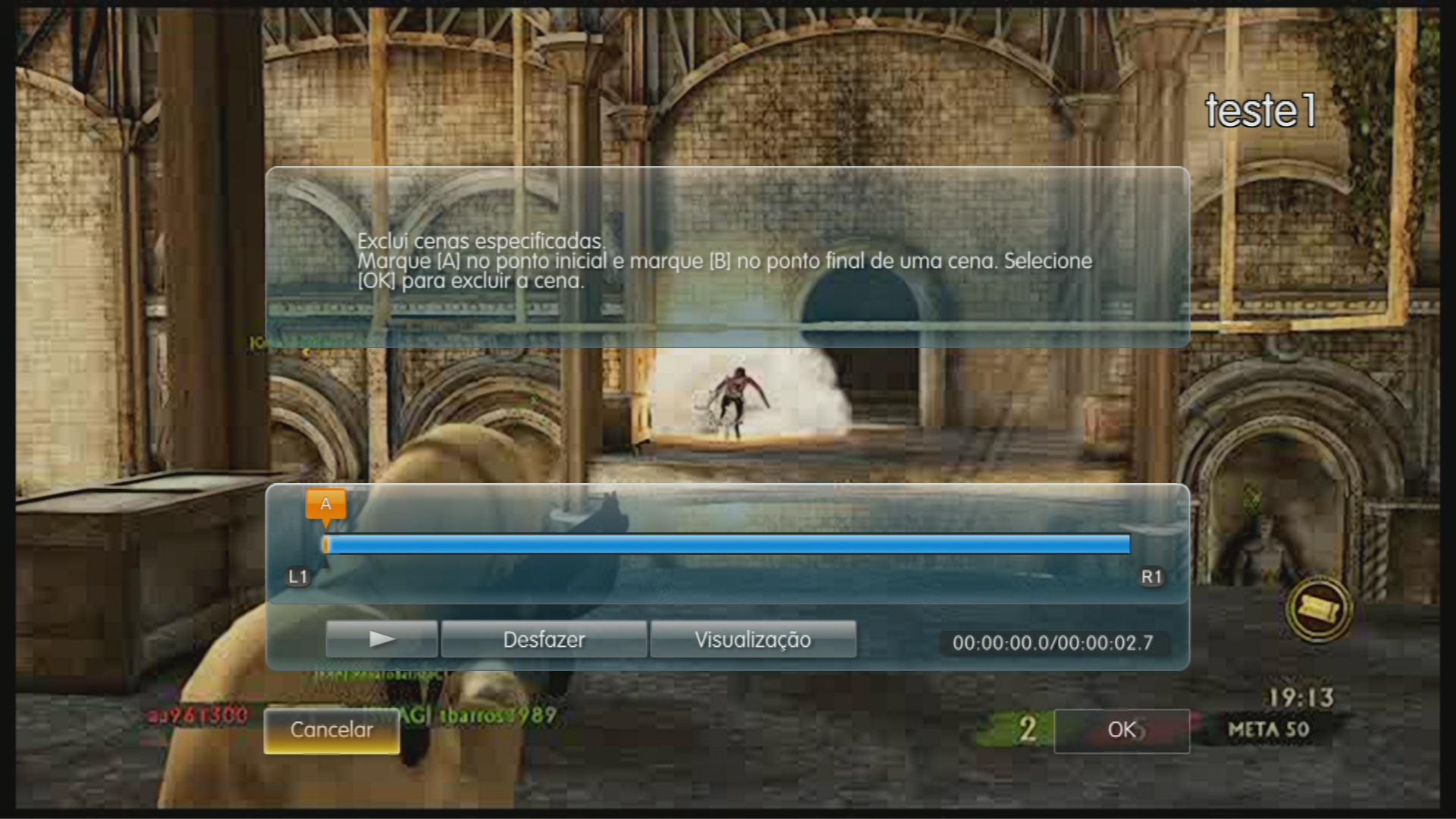 Os usuários podem recortar e excluir cenas específicas. (Foto: Reprodução)