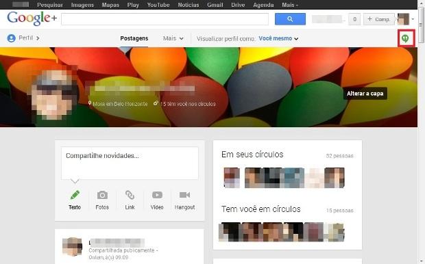 Perfil do Google + (Foto: Reprodução/Lívia Dâmaso)