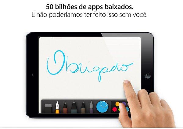 App Store atingiu a marca de 50 bilhões de downloads na tarde de quarta-feira (Foto: Divulgação)