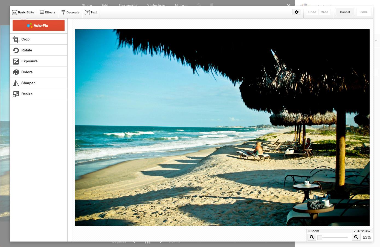 """Em """"Edit"""" os usuários podem realizar ajustes manuais de exposição, cor, nitidez, etc. (Foto: Gisele Góes)"""