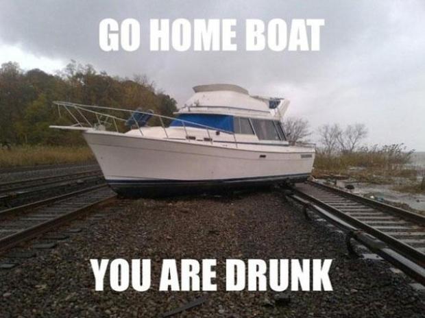 """Na imagem, """"Vá para casa, barco. Você está bêbado"""" (Foto: Reprodução/Bored Panda)"""