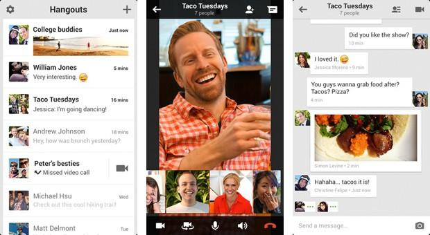 Hangouts permite bate-papos de v´deo em grupo (Foto: Divulgação)