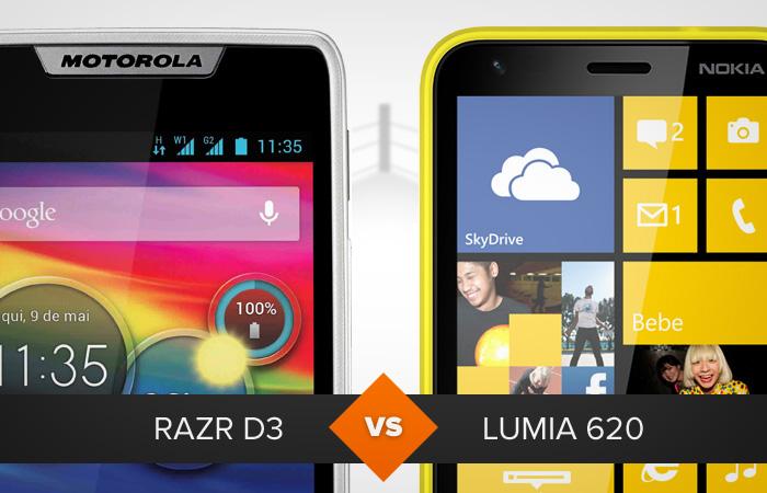 Motorola Razr D3 ou Nokia Lumia 620: qual leva a melhor? O TechTudo analisa (Foto: Divulgação)