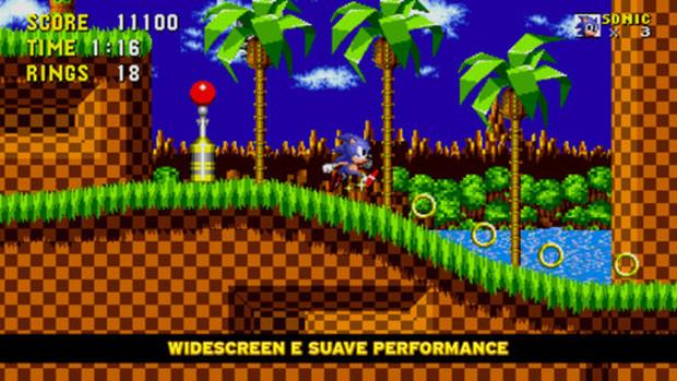 O primeiro game do Sonic remasterizado e com suporte para tela Retina (Foto: Divulgação)