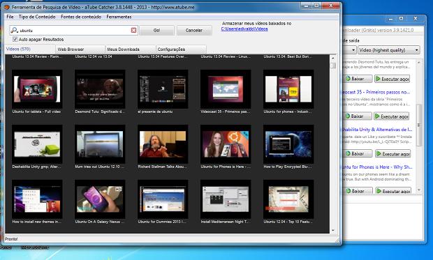 Busca de vídeos nos dois programas (Foto: Reprodução/Edivaldo Brito)