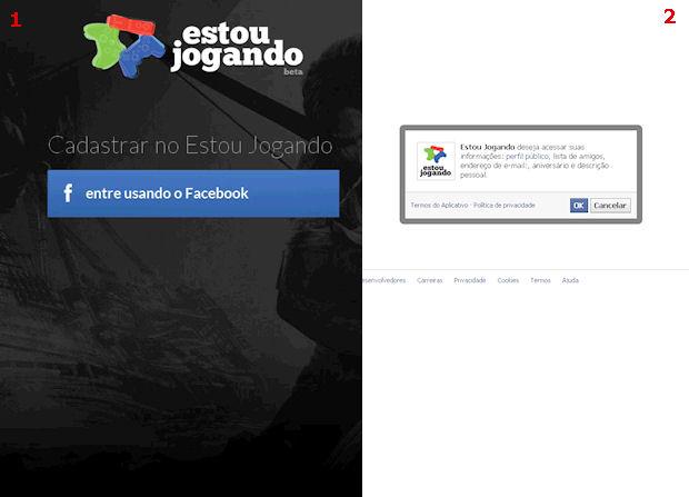Use sua conta no facebook para fazer o cadastro (Foto: Reprodução/Techtudo)