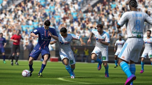 Proteger a bola com o corpo é uma das novidades de Fifa 14 (Foto: edge.com) (Foto: Proteger a bola com o corpo é uma das novidades de Fifa 14 (Foto: edge.com))