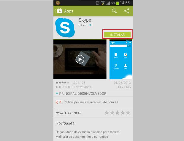 Aplicativo para Android, suas descrições e download (Foto: Reprodução/Lívia Dâmaso)