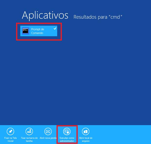 Executando o prompt de comando do Windows 8 como administrador (Foto: Reprodução/Edivaldo Brito)