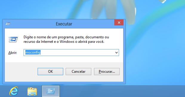 Executando msconfige.exe (Foto: Reprodução/Edivaldo Brito)