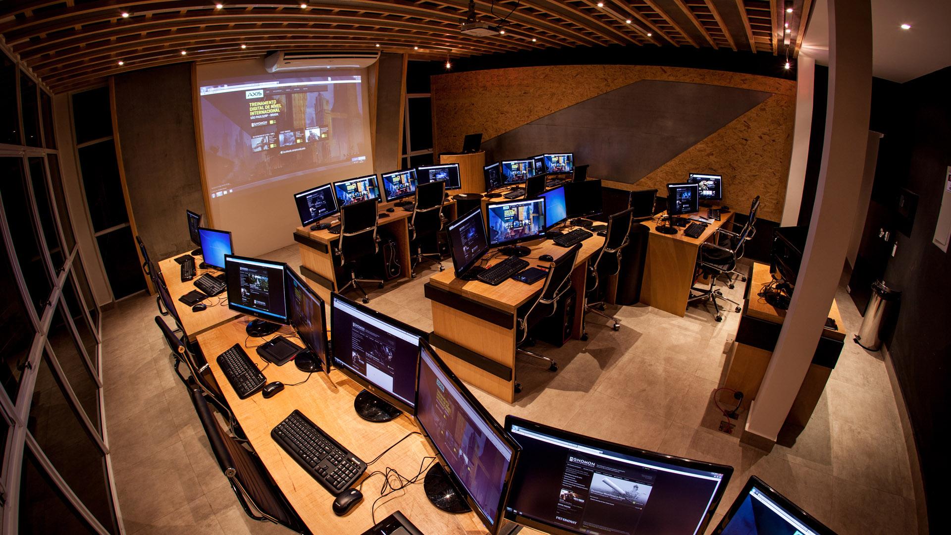 Laboratório da Axis (Foto: Reprodução / Natalia Kreuser)