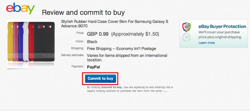 """Clique no botão """"Commit to buy"""" (Foto: Reprodução/Thiago Bittencourt)"""