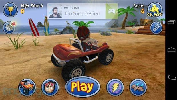 Beach Buggy Blitz foi um dos primeiros jogos a receber suporte ao Google Play Games (Foto: Reprodução / Pocketgamer)