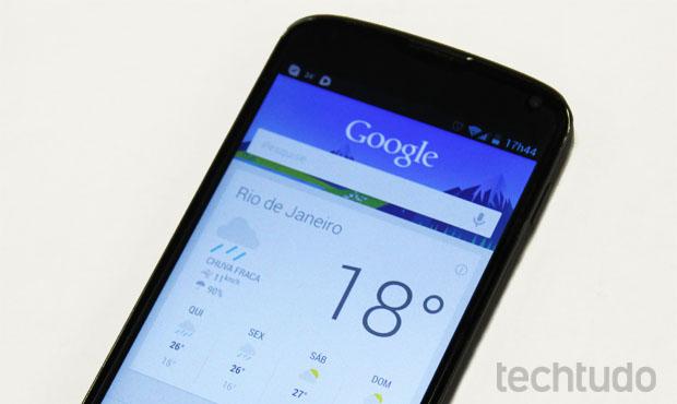 Google Now (Foto: Isadora Díaz / TechTudo)