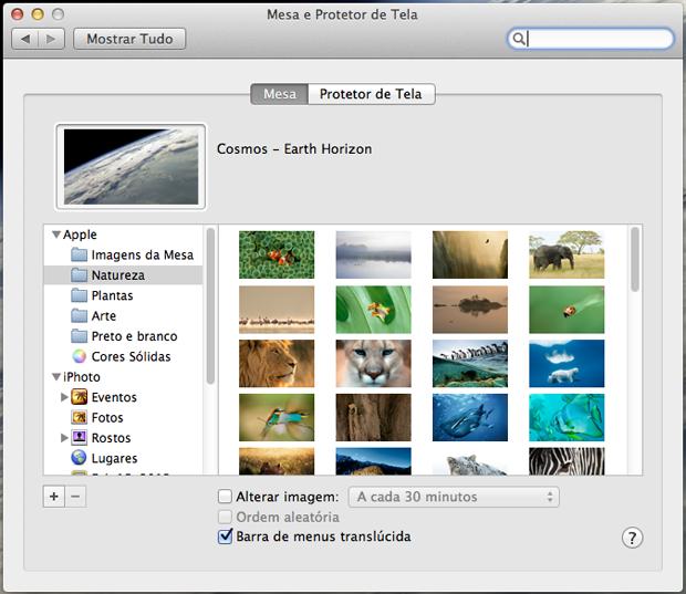A tela de configuração do papel de parede (Foto: Reprodução/Hugo Carvalho)