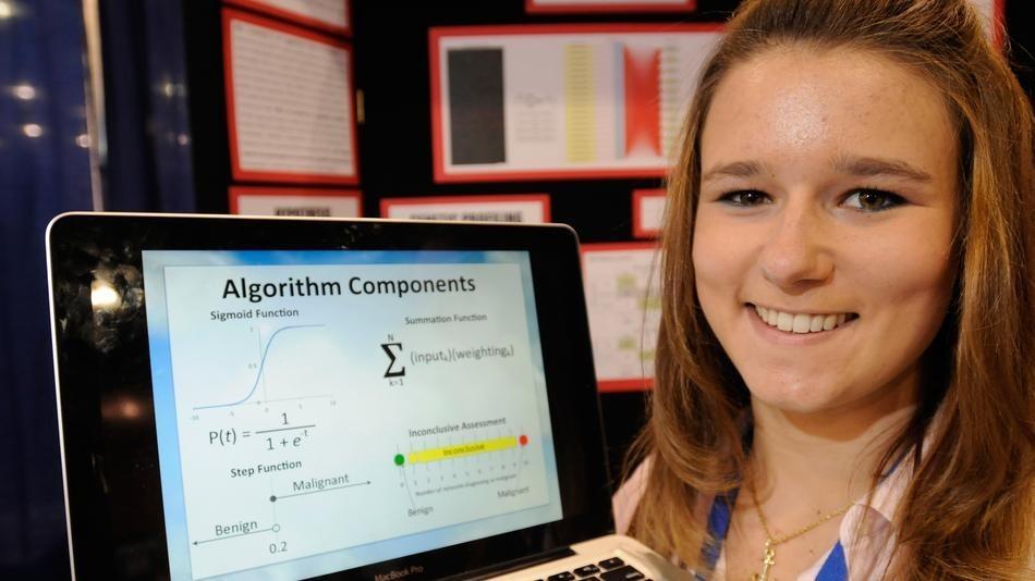 Brittany Wenger, estudante que desenvolveu sistema que identifica câncer (Foto: Reprodução / Marshable) (Foto: Brittany Wenger, estudante que desenvolveu sistema que identifica câncer (Foto: Reprodução / Marshable))