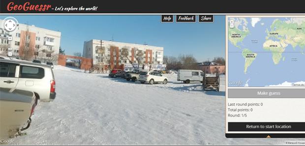 O GeoGuessr propõe desafios usando o Google Maps e o Street View (Foto: Reprodução)