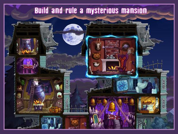 Em Haunted Hollow você deve cuidar dos monstros durante o Halloween (Foto: Divulgação)