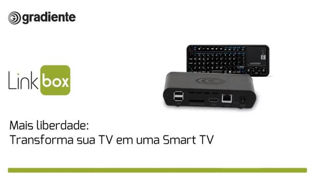 Linkbox transforma qualquer televisão com suporte HDMI em Smart TV (foto: Reprodução/YouTube)