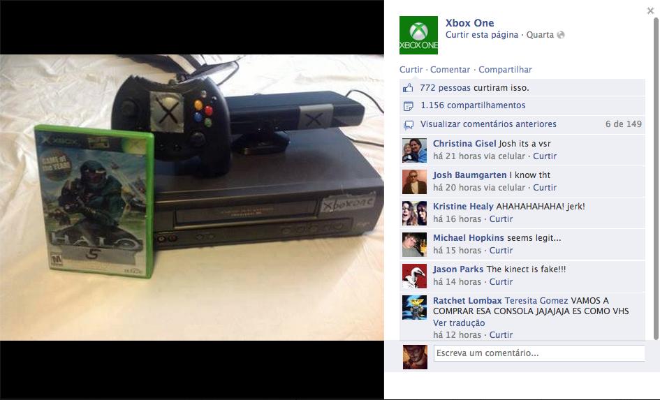 Logo surgiram inúmeras piadas na web sobre o Xbox One (Foto: Reprodução / Facebook)