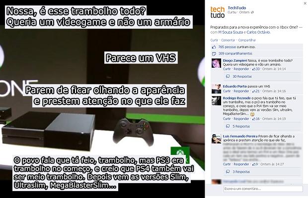 Usuários criticam o Xbox One na página do TechTudo no Facebook (Foto: Reprodução)
