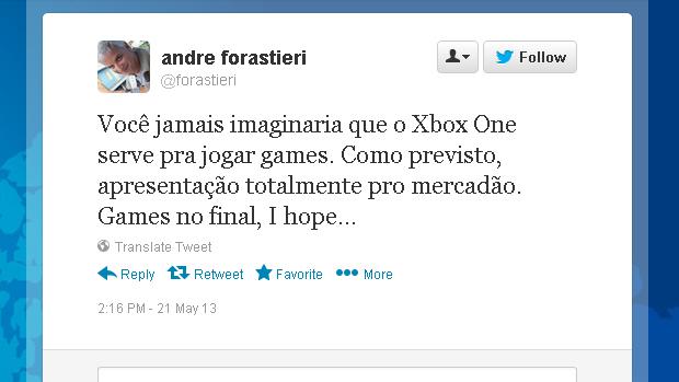 @forastieri (Foto: Reprodução)