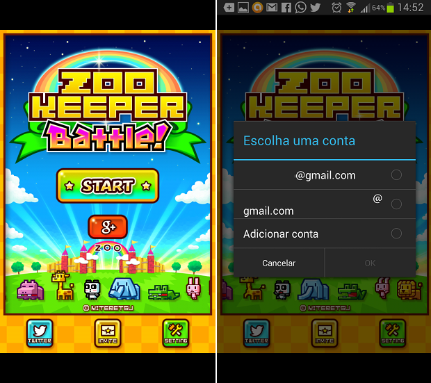 ZooKeeper e um dos games com suporte ao multiplayer do Android (Foto: Reprodução/Thiago Barros)