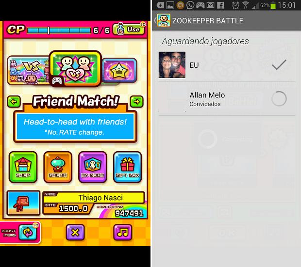 Multiplayer é jogado com amigos do Google+ (Foto: Reprodução/Thiago Barros)
