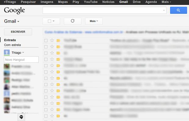 Novos Hangouts no Gmail (Foto: Reprodução/Thiago Bittencourt)