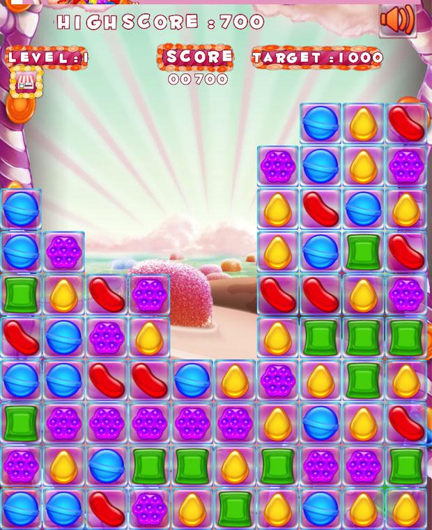 Candizzle usa a mesmas peças de Candy Crush (Foto: Reprodução)