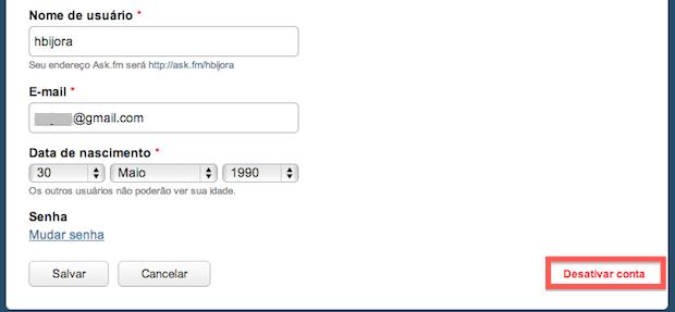Opções do Ask.fm (Foto: Reprodução/Helito Bijora)