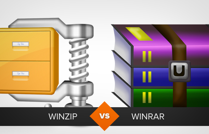Comparative Winzip and Winrar (Photo: Playback)