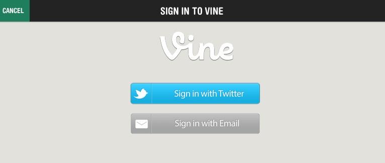 Entrando na sua conta do Vine através do aplicativo VineFollow