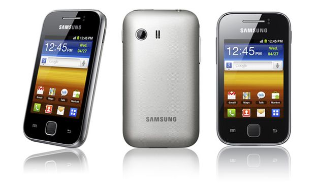 Galaxy Y, um modelo de baixo custo com tela de 3 polegadas (Foto: Reprodução) (Foto: Galaxy Y, um modelo de baixo custo com tela de 3 polegadas (Foto: Reprodução))