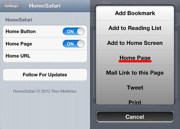 Modificando a página inicial do seu navegador Safari (Foto: Reprodução)