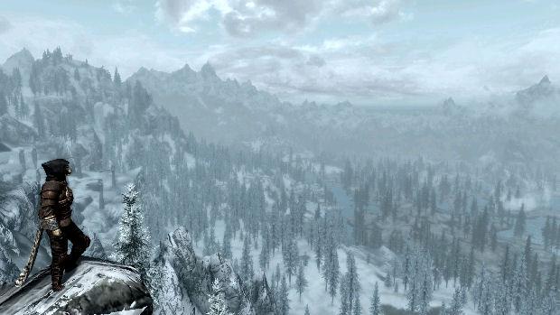Uma das muitas belas paisagens de Skyrim (Foto: Reprodução/Moddb)