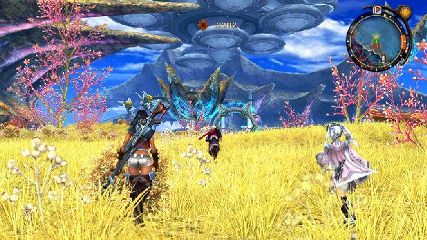 As belas paisagens de Xenoblade Chronicles mostram que o Wii também tem suas qualidades (Foto: Reprodução/HalfBeard's HUD)
